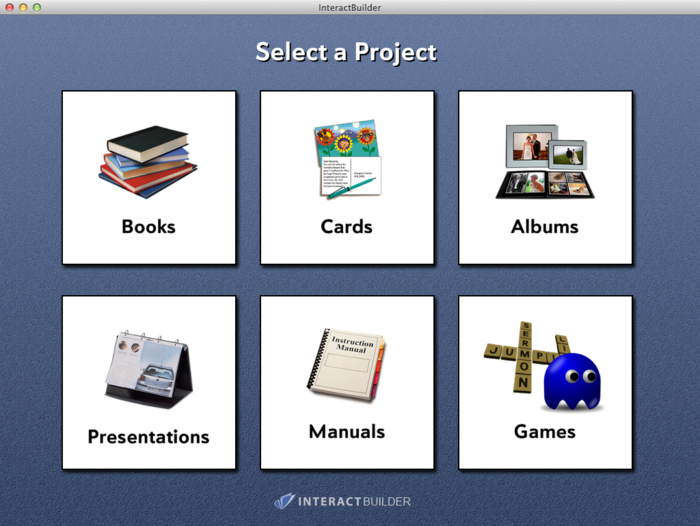 InteractBuilder 3.0 Project Selector
