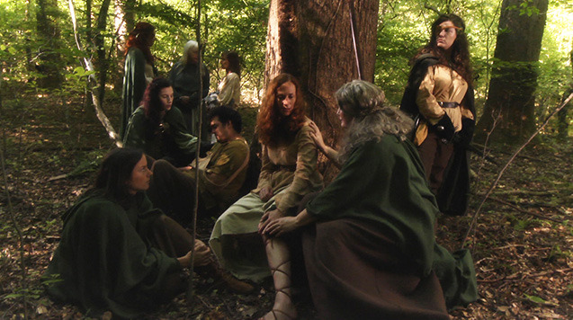 Lorica is tended to by the Women of the Wood