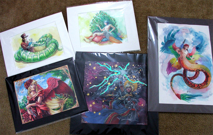 This beautifully matted art will be available at the $150 and above tiers!