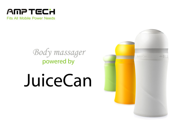 Body massager powered by JuiceCan