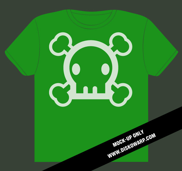 Disko Warp logo tee in exclusive green color on American Apparel unisex short sleeve tee - Final color & style may vary slightly
