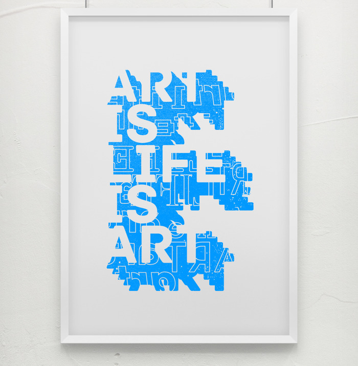 """Art is Life is Art"" by ECA Director Courtney Stubbert, Print pulled by Threadbare Press, 11x14, Unframed"
