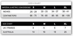 underwear sizing chart