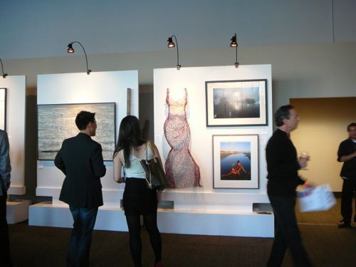 My work on display at the UCSF Art for AIDS Auction