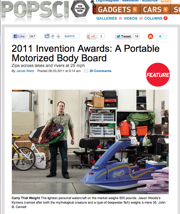 Popular Science Magazine Invention Of The Year Award Winner!