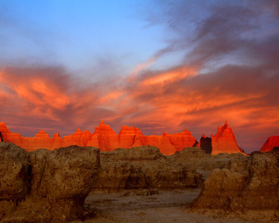 """Badlands Sunrise"" by Diamonte, 17.  Badlands National Park."