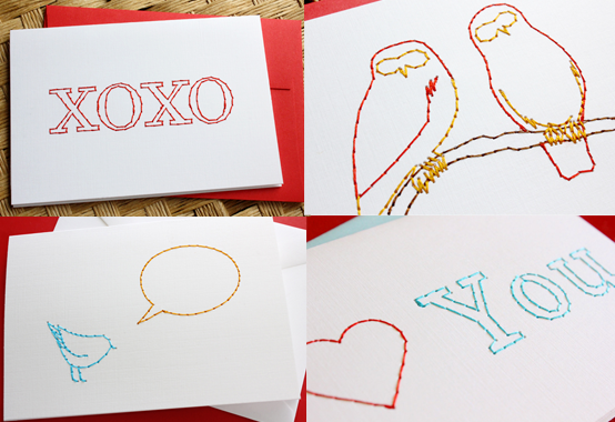 "Just a few of the many cards you can choose from. Each card is 5 x 3.5"". You're free to choose from any of the cards available on my web site at www.StitchedCards.com"