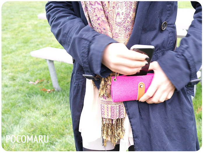Add your favorite cross-body or wristlet strap for utlimate personalization!