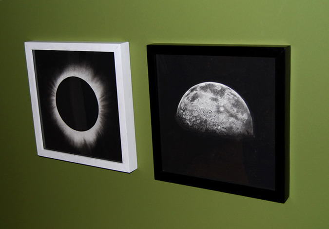 """Solar Eclipse."" and ""Half Moon,"" (December, 2012)"