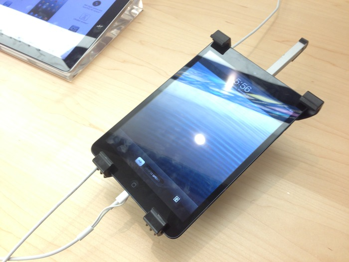 The mount attached to an iPad Mini