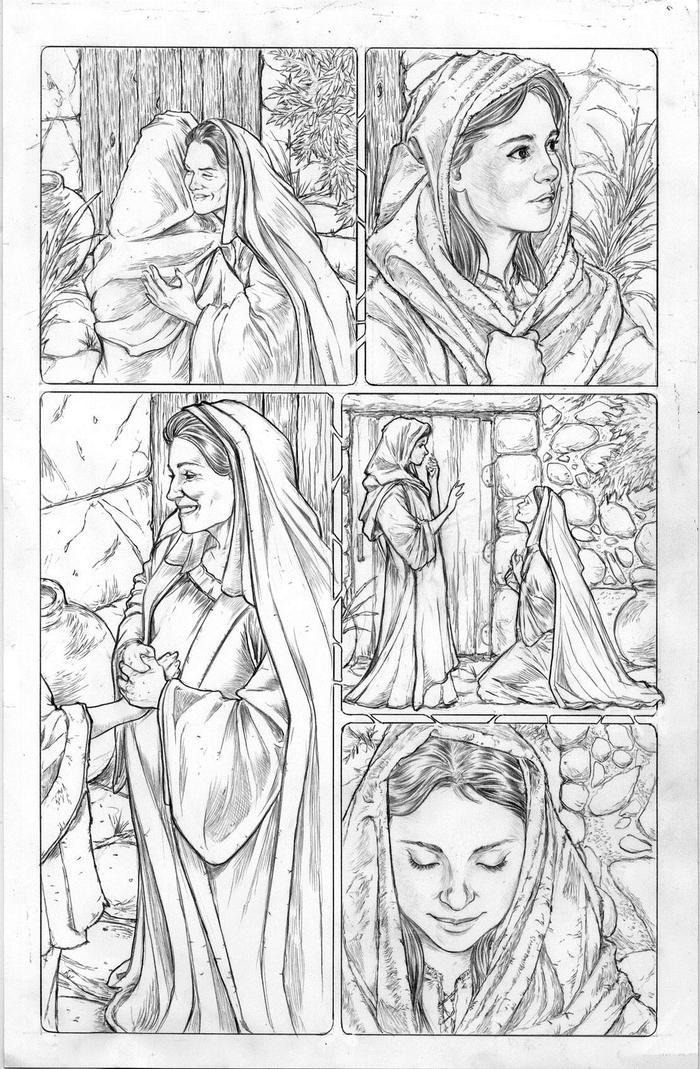 ORIGINAL ART KICKSTARTER OFFERING: Mary & Elizabeth