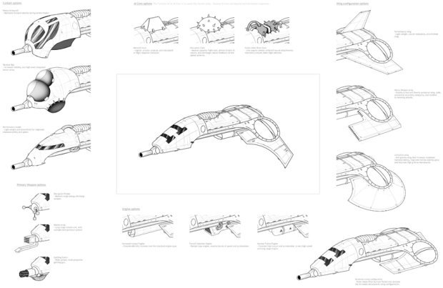 Configuration options for a fighter concept...
