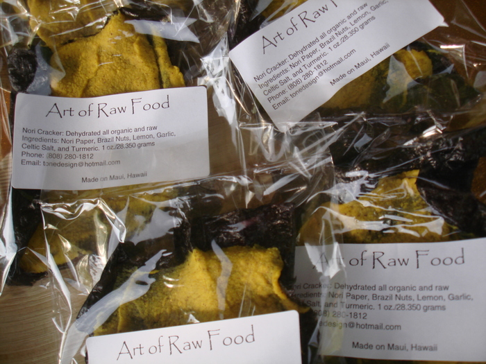Art of Raw Food's Trademark: The NORI CRACKER