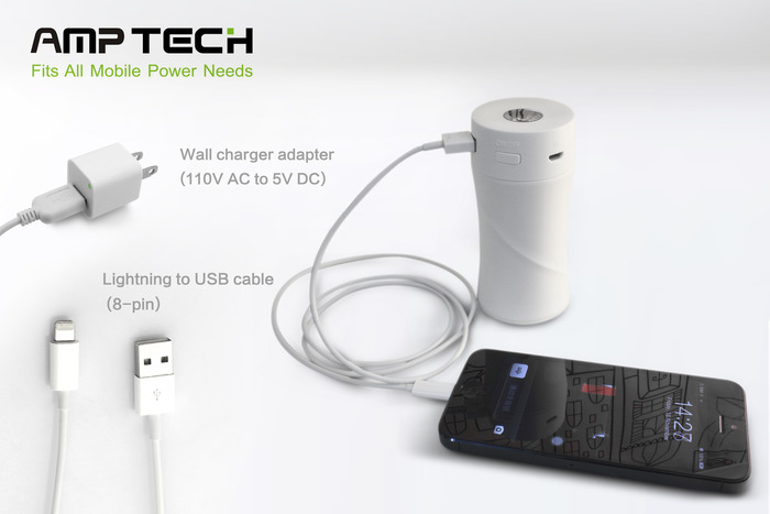 Lightning to USB cable (8-pin), Wall charger adapter (110V AC to 5V DC) *iPhone 5 not included.