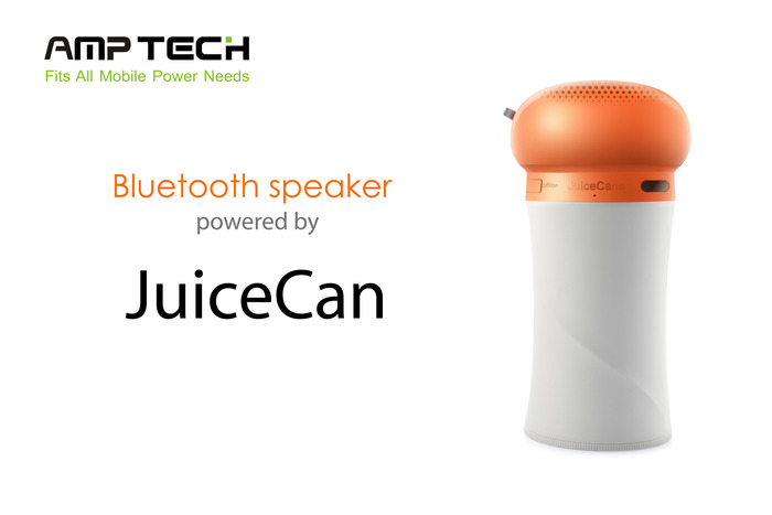 Bluetooth speaker powered by JuiceCan