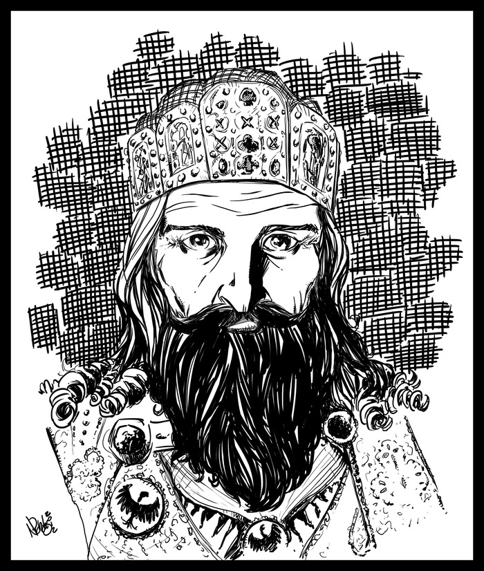 Charlemagne, ruler of the Carolingian Empire.