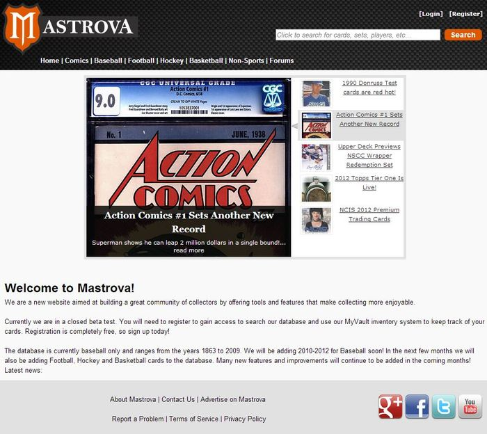Front page of Mastrova