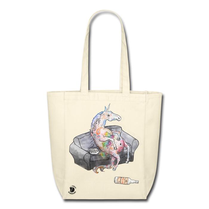 exhausted unicorn bag