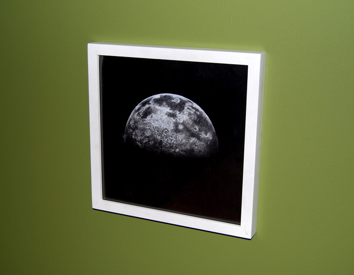 """Half Moon,"" hi-res print framed in white (December, 2012)"