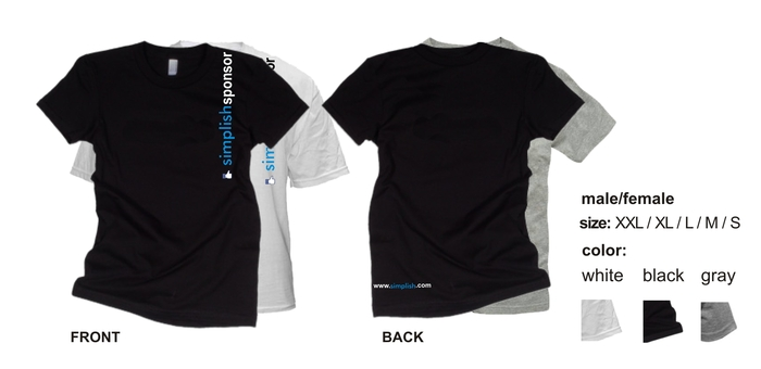 T-shirt design exclusive to simplish sponsors!