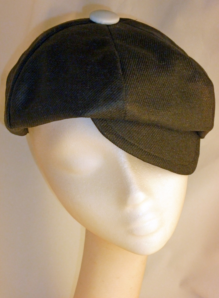 The TJ driving cap sample from my Zappos.com Collection linesheet.  One of the rewards for this project, shown here in black linen.