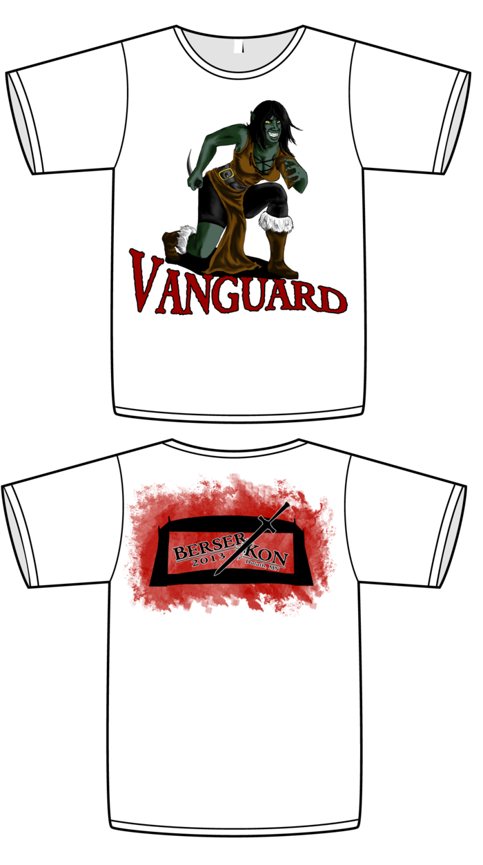 Vanguard shirt mock up!