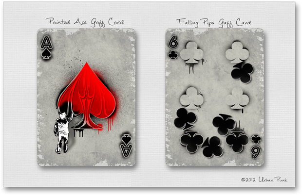 Painted Ace & Falling Pips Gaff Cards