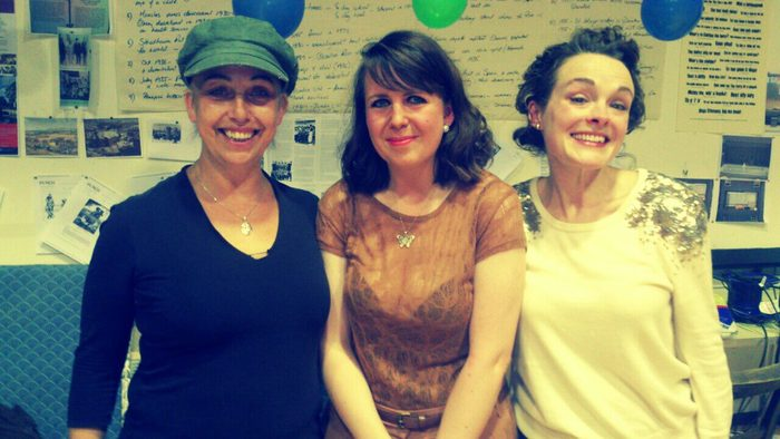 Jade Anderson (center) during Dundee Rep's production of She Town.