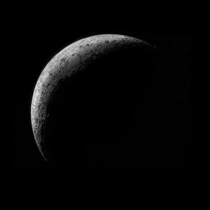 """Crescent Moon."" hi-res print (December, 2012)"