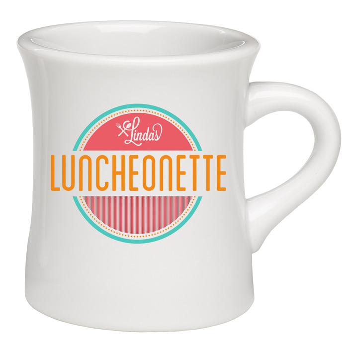 Refillable Diner Mug.  Get your daily comfort food fix in this awesome, eco-friendly mug!