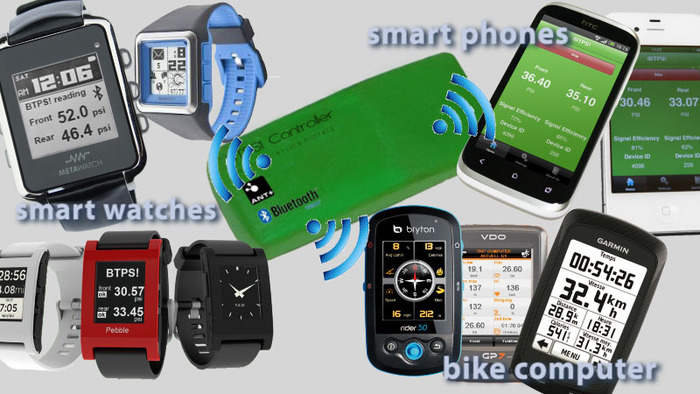 many smart devices work with the Bike Tire Pressure Sensor!