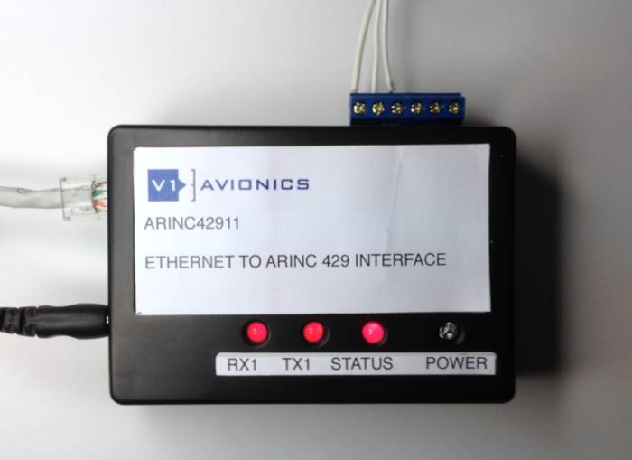V1 Avionics ARINC42911 Interface