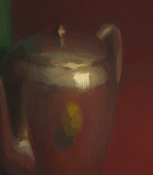 detail of Still Life with Red Background