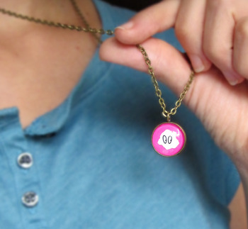 Fuschia Cloud Pendant Necklace!