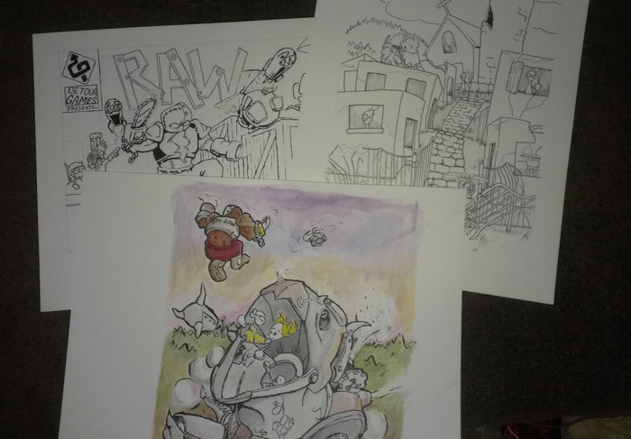 Some of the original concept art that the posters will be based off of.