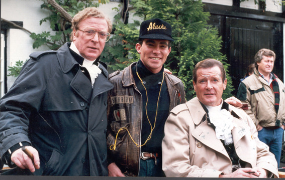 On the set of Bullseye with Roger Moore & Michael Caine