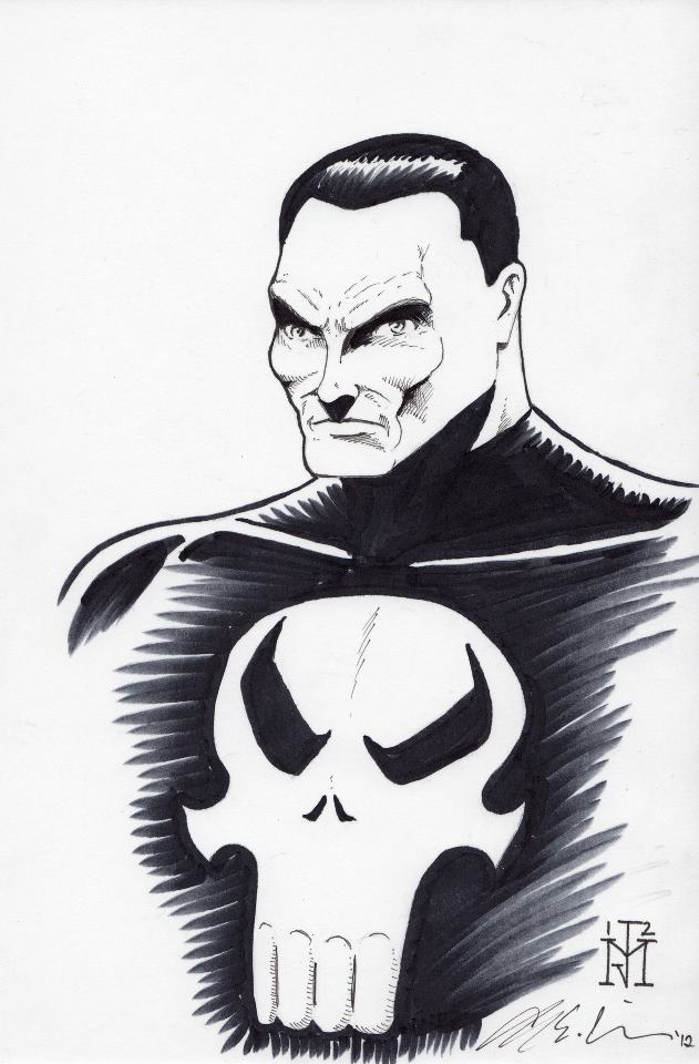 the Joe Miller Punisher sketch with $50.00 pledge.