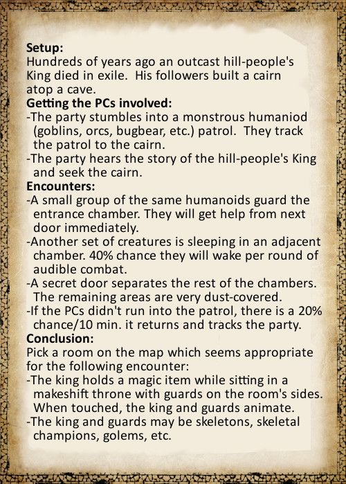 Sample Encounter Outline