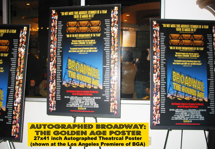AUTOGRAPHED BROADWAY: THE GOLDEN AGE POSTER