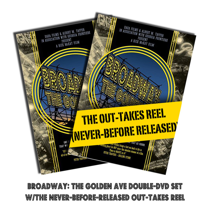 Autographed Broadway: The Golden Age OUT-TAKE DVD and original DVD Package