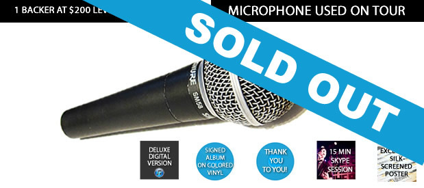 Shure SM58 microphone used on Tooth & Nail tours & European Tour w/ Plain White T's