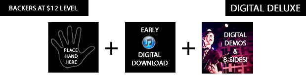digital deluxe = demo versions of the songs & two unreleased b-sides