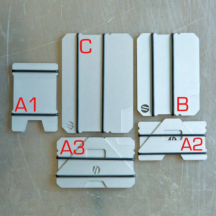 WALLET SYSTEM DESIGNATIONS /  CLEAR ANODIZED