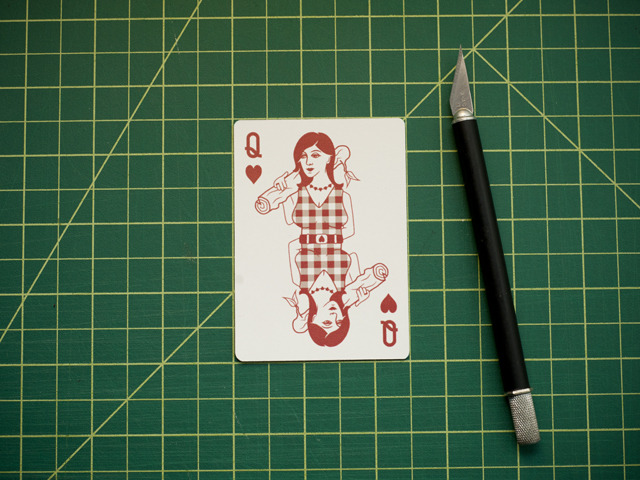 Mock up of the Queen of Hearts!