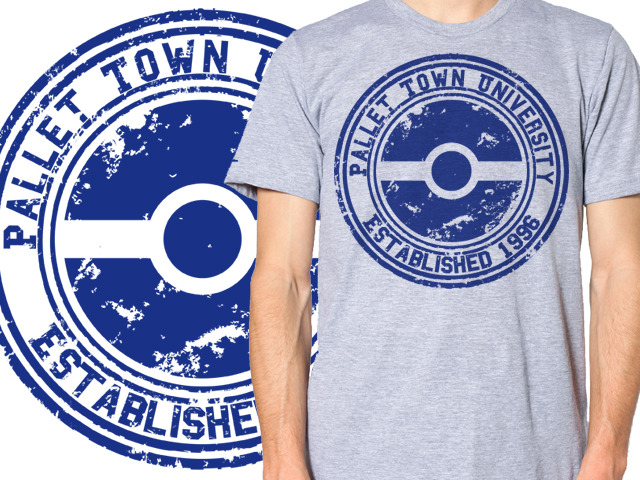 $25 gets you the original Pallet Town University Pokemon shirt, in the size of your choice! + Any Stretch Goals Obtained!