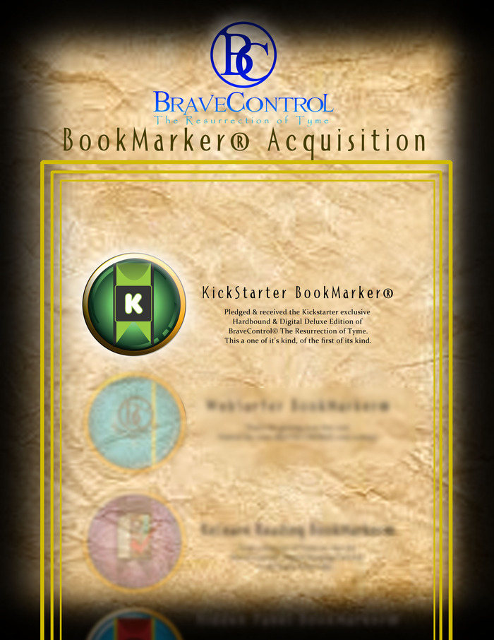 Screenshot of BraveControl© The Resurrection of Tyme Digital Release BookMarkers® Section