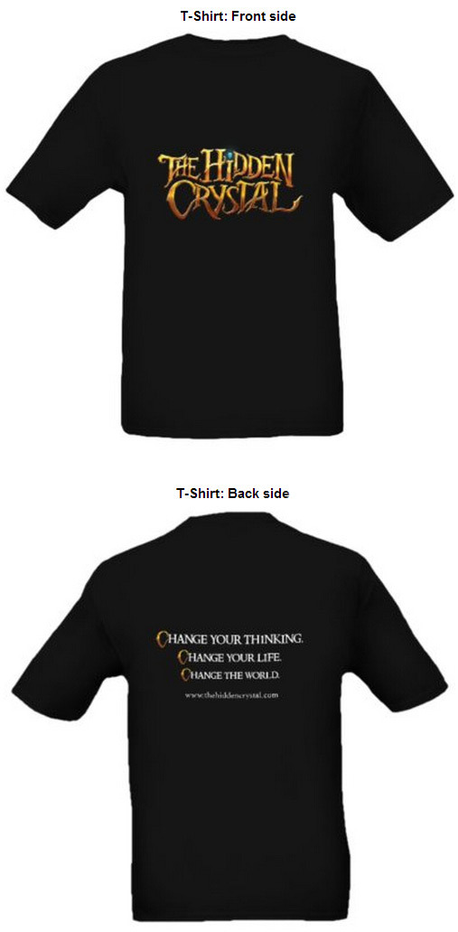 Front and back of t-shirt. Available in men, women, and child size.