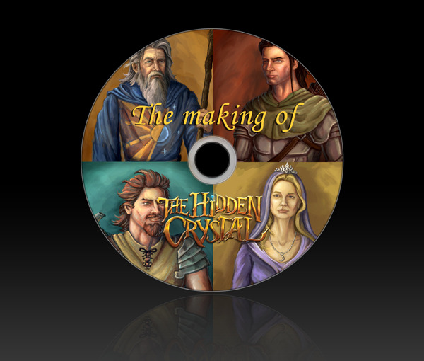 The Making of The Hidden Crystal DVD! This in-depth DVD covers the 10+ year process of the writing of The Hidden Crystal, featuring commentary by the author Daniel Gimness and John Paul Selwood, the illustrator who worked on the book.