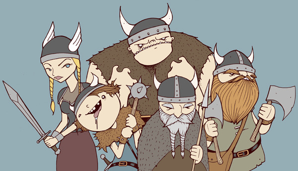 The Viking thugs have arrived. Say hello to Freya, Gunnar, Ivar, Emil and Olaf.