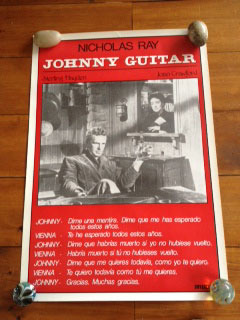 "Rare Spanish poster for JOHNNY GUITAR (24"" x 36"")"